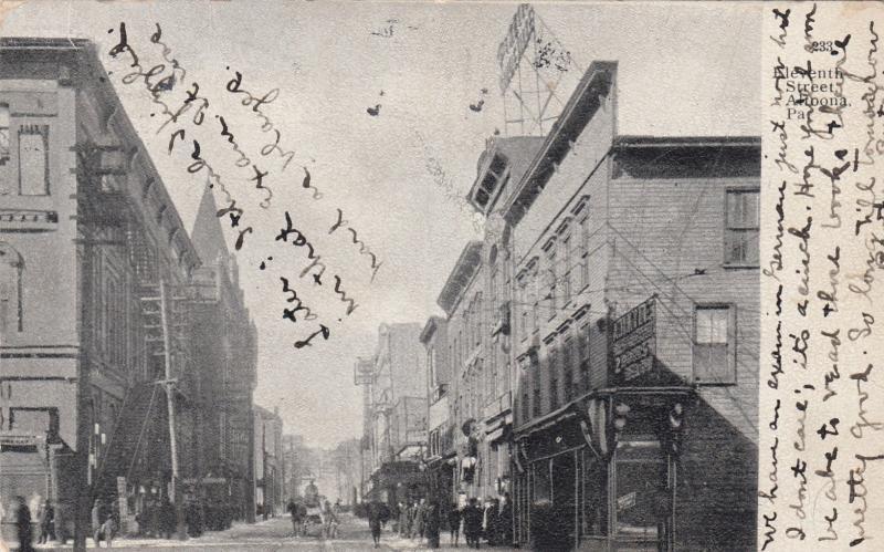 ALTOONA , Pennsylvania, 1909 ; 11th Street