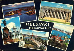 B110728 Suomi Finland Helsinki Helsingfors Statue Monument Church Panorama