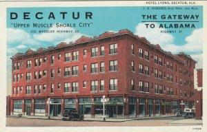 DECATUR , Georgia , 1910-30s ; Hotel Lyons