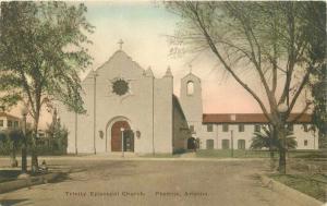 Albertype Hand Colored 1920s Trinity Episcopal Church Phoenix Arizona 3410