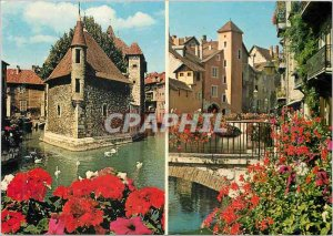 Modern Postcard 1060 Annecy old ornate palace of the island the square tower ...