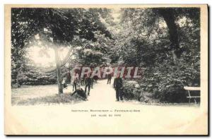 Old Postcard Insitution Moucheront Fontenay sous Bois An allee park