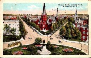 Washington D C Thomas Circle Looking North 1922