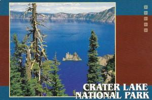 The Phantom Ship In The Breathtaking Blue Water Of Crater Lake National ParkO...