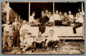 Postcard RPPC c1915s Unknown Location Group of Men Lodge or Fraternity?