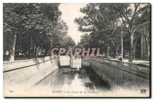 Old Postcard Nimes The Fountain Canal