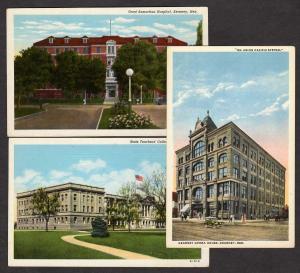 NE Lot 3 KEARNEY NEBRASKA Postcards Hospital College