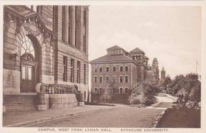 New York Syracuse Campus West From Lyman Hall Syracuse University Albertype