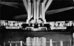 Federal Building and States Group by Illumination, Chicago World's Fair 1933