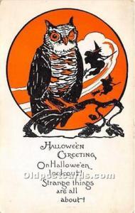 Halloween Postcard Old Vintage Antique Postcard Post Card Unused