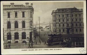south africa PORT ELIZABETH, Market Square, TRAM 30s RP