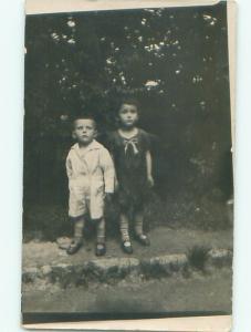 Old rppc KIDS - CHILDREN SCENE Great Postcard AB1862