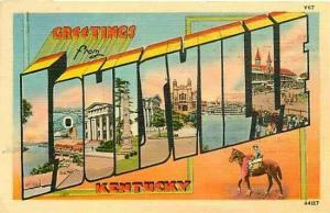 KY, Louisville, Kentucky, Large Letter, Kyle Co. 44127