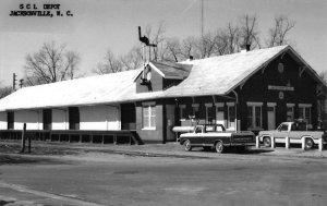 Jacksonville North Carolina Seaboard Coast Line Depot real photo pc ZC549037