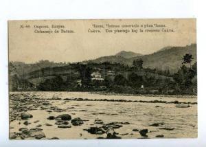 171145 Adjara Georgia BATUMI Chakva River TEA vintage PC