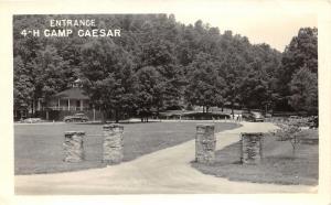 Webster City West Virginia~4=H Camp Caesar Entrance~Women's Club Conv~1948 RPPC