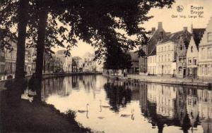 Quai Long, Lange Rei, Bruges (West Flanders), Belgium, 1900-1910s
