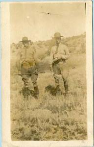 Two Men in a Field   *RPPC