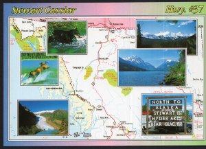 Canada Beautiful British Columbia MAP MultiView Stewart Cassiar Hwy#37 - Cont'l