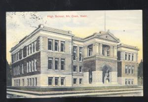 MCCOOK NEBRASKA HIGH SCHOOL BUILDING ANTIQUE VINTAGE POSTCARD