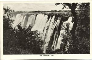 rhodesia, Victoria Falls, Rainbow Fall (1940s) RPPC