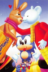 Art Postcard, YUK! by Mark Pacan No.46 Galaxy Bunny, Rupert Bear & Sonic 15Z