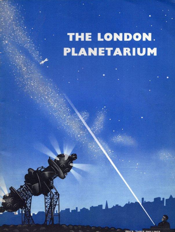 The London Planetarium Astronomy 1966 Guide Visitor Book