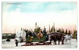 Fairbanks-Valdez Stage US Mail Sleigh Sled, Alaska Postcard *4W