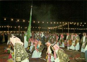PC CPA SAUDI ARABIA, RIYADH, SAUDI DANCE, Modern Postcard (b15891)