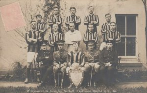 RP: SHIELD , England , 1919 ; Winning Soccer Team , Inter-Coy Football Challenge