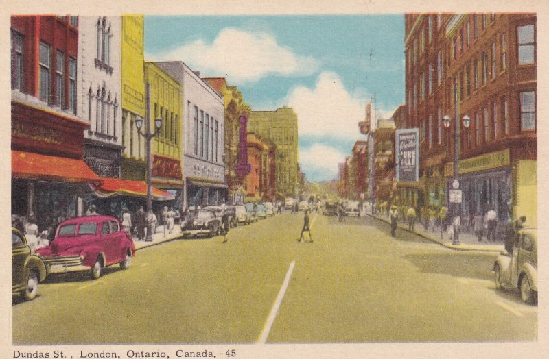 LONDON, Ontario, Canada, 1900-1910s; Dundas St.