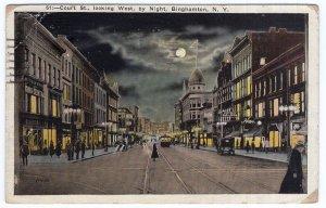 Binghamton, N.Y., Court St., looking West by Night
