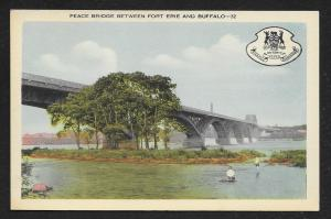 Peace Bridge Between Fort Erie & Buffalo CANADA Unused c1940s