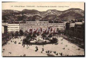 Old Postcard Cote Azur Toulon Place de la Liberte