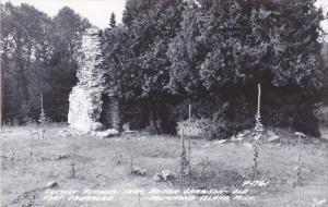 RP, Chimney Remains From British Garrison, Old Fort Drummond, Drummond Island...