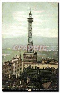 Postcard Old Lyon Tower Metallic