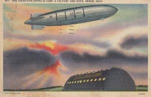 U.S. Navy Blimp , AKRON , Ohio , 1930-40s