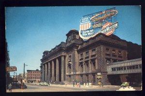 Chicago, Illinois/IL Postcard, Chicago & Northwestern Station, Old Cars, 1956!
