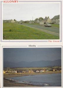 Allonby Green River Cumbria 2x Postcard s