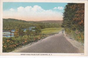New York Greetings From Fort Edward Curteich