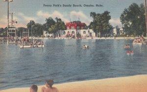 OMAHA , Nebraska , 1930-40s ; Peony Park's Sandy Beach
