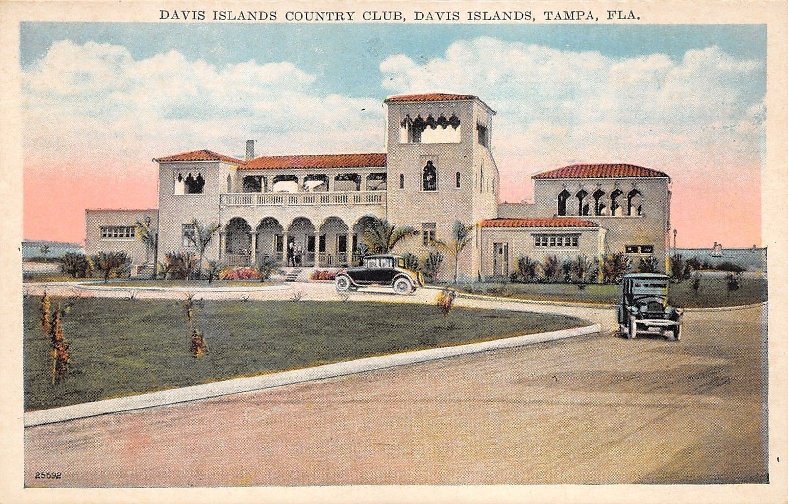 Tampa Florida~Davis Islands Country Club~Vintage Cars in