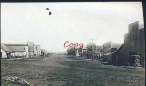 REAL PHOTO OCONTO NEBRASKA DOWNTOWN MAIN STREET SCENE POSTCARD