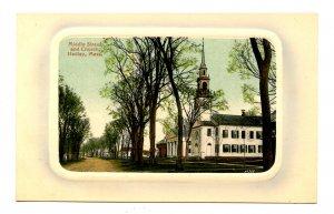 MA - Hadley. Middle Street & Church