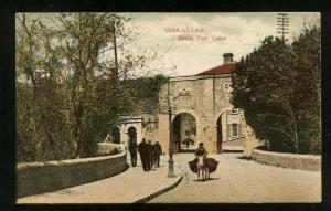 GIBRALTAR - South Port Gates With Men & Donkey - Unused