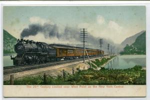 20th Century Limited New York Central Railroad Train New York postcard