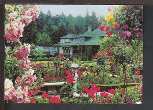 Roses Buchart Gardens Vancouver BC Canada Postcard BIN