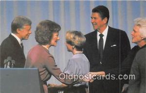 Cleveland, OH, USA Postcard President Jimmy Carter, Governor Ronald Reagan