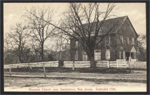 Swedesboro NJ Moravian Church 1900s Postcard by Humphreys