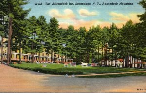 New York Adirondacks Sacandaga The Adirondack Inn Curteich
